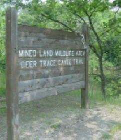 Deer Trace Canoe Trail sign
